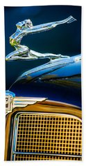 1934 Buick Series 96-c Convertible Coupe Hood Ornament - Emblem Bath Towel