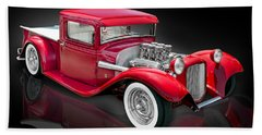 1934 Ford Custom Pickup Hot Rod Bath Towel by Gary Warnimont