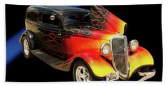 1934 Ford Street Rod Classic Car 5545.04 Hand Towel by M K  Miller
