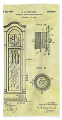 1934 Grandfather Clock Patent Bath Towel