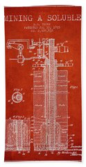 1935 Mining A Soluble Patent En39_vr Hand Towel