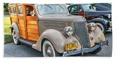 1936 Ford V8 Woody Station Wagon Bath Towel