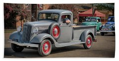 Bath Towel featuring the photograph 1936 Gmc T-14 Pickup  by Susan Rissi Tregoning