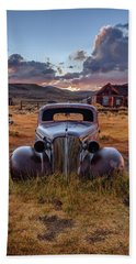1937 Chevy At Sunset Bath Towel
