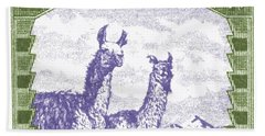 1939 Bolivia Llamas Postage Stamp Hand Towel