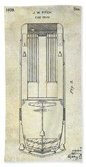1939 Fire Truck Patent Bath Towel