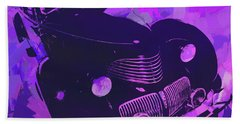 1940 Hupp Skylark Violet Pop Hand Towel
