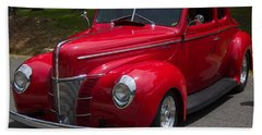 1940 Red Ford Deluxe Hand Towel