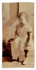 Bath Towel featuring the photograph 1940s Little Girl by Linda Phelps