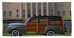 1941 Ford Super Deluxe Country Squire Woody Station Wagon Hand Towel