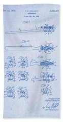 1941 Toothbrush Patent Artwork Blueprint 3 Bath Towel