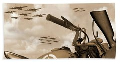 Bath Towel featuring the photograph 1942 Indian 841 - B-17 Flying Fortress - H by Mike McGlothlen