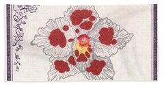 1947 Colombia Odontoglossum Orchid Stamp Bath Towel