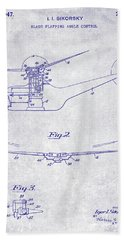 1947 Helicopter Patent Blueprint Hand Towel