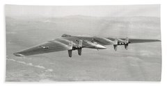 Hand Towel featuring the photograph 1947 Northrop Flying Wing by Historic Image