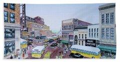 Rush Hour Portsmouth Ohio 1948 Hand Towel
