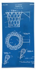 1951 Basketball Net Patent Artwork - Blueprint Hand Towel