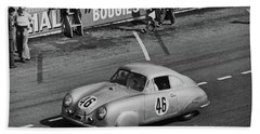 1951 Porsche At Le Mans - Doc Braham - All Rights Reserved Bath Towel