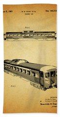 1951 Railway Car Patent Hand Towel by Dan Sproul