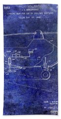 1953 Helicopter Patent Blue Hand Towel
