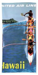 1953 United Airlines Hawaii Travel Poster Bath Towel