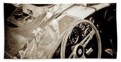 1955 Ac Cobra Steering Wheel - Engine -1043s Bath Towel