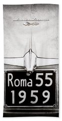 1955 Alfa Romeo 1900 Css Ghia Aigle Cabriolet Grille Emblem - Super Sprint Emblem -0601ac Bath Towel