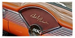 Bath Towel featuring the photograph 1956 Chevy Bel Air Dash by Linda Bianic
