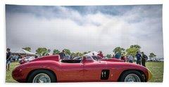 Hand Towel featuring the photograph 1956 Ferrari 290mm by Randy Scherkenbach