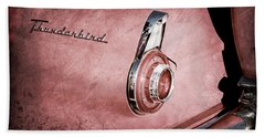 Hand Towel featuring the photograph 1956 Ford Thunderbird Convertible Taillight Emblem -0361ac by Jill Reger