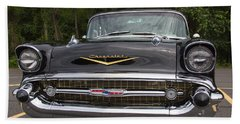 1957 Black Chevy Nomad Hand Towel