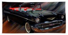 1957 Chevy Bel Air Convertible Digital Oil Bath Towel