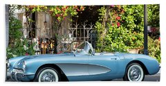 Hand Towel featuring the photograph 1957 Corvette by Brian Jannsen