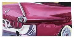 1957 Eldorado-red Bath Towel