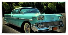 1958 Chevrolet Impala Hand Towel by David Patterson