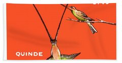 1958 Ecuador Hummingbirds Postage Stamp Hand Towel