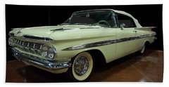 1959 Chevy Impala Convertible Hand Towel