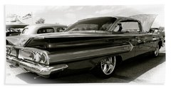 Hand Towel featuring the photograph 1960 Chevy Impala by Linda Bianic