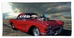1962 Corvette Dragster Hand Towel