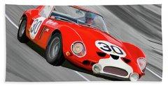 1962 Ferrari 250 Gto Bath Towel by Wally Hampton