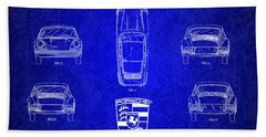 1964 Porsche Car Patent 4 Bath Towel