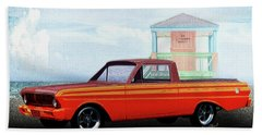 1965 Ford Falcon Ranchero Day At The Beach Bath Towel