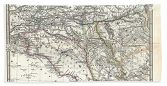 1965 Spruner Map Of The Caucasus And Iraq In Antiquity  Bath Towel