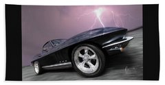 1966 Corvette Stingray With Lightning Hand Towel