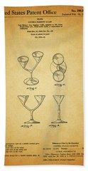 1967 Double Martini Glass Bath Towel