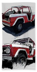 1967 Ford Bronco Off-road Hand Towel