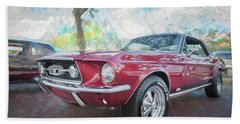 1967 Ford Mustang Coupe C117 Bath Towel by Rich Franco