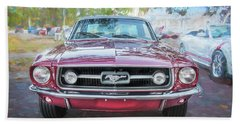 1967 Ford Mustang Coupe C118  Bath Towel by Rich Franco