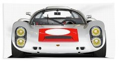 1967 Porsche 910 Illustration Bath Towel by Alain Jamar