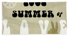 1967 Summer Of Love Newspaper Bath Towel